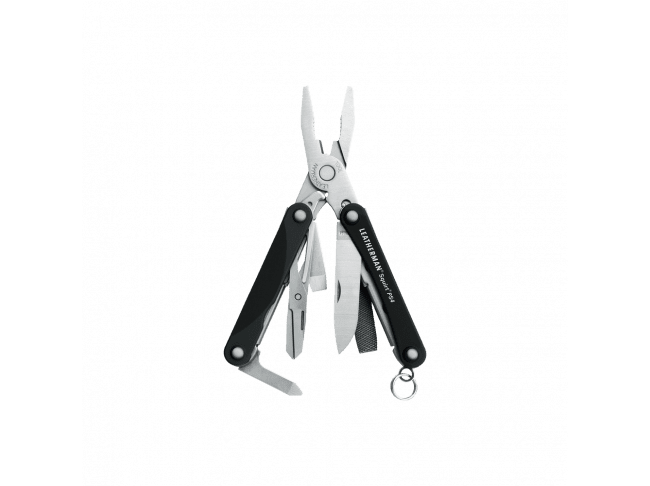 Мультитул Leatherman Squirt PS4, 9 функций, черный