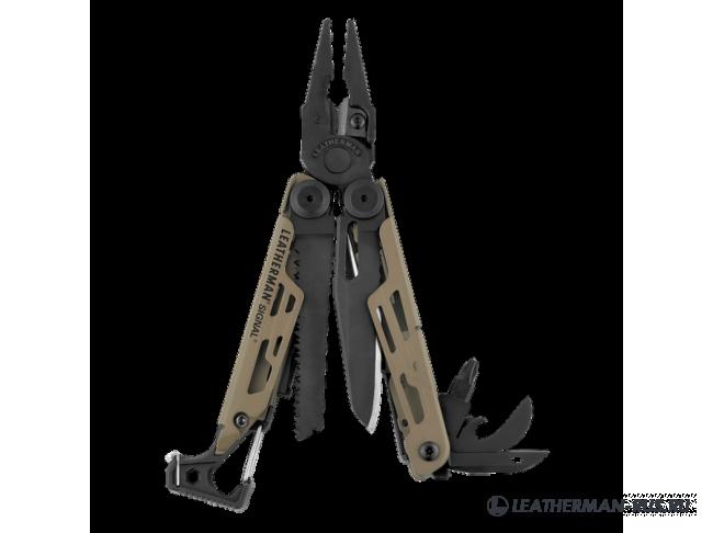 Мультитул Leathermen LEATHERMAN Signal Coyote, 19 функций, нейлоновый чехол